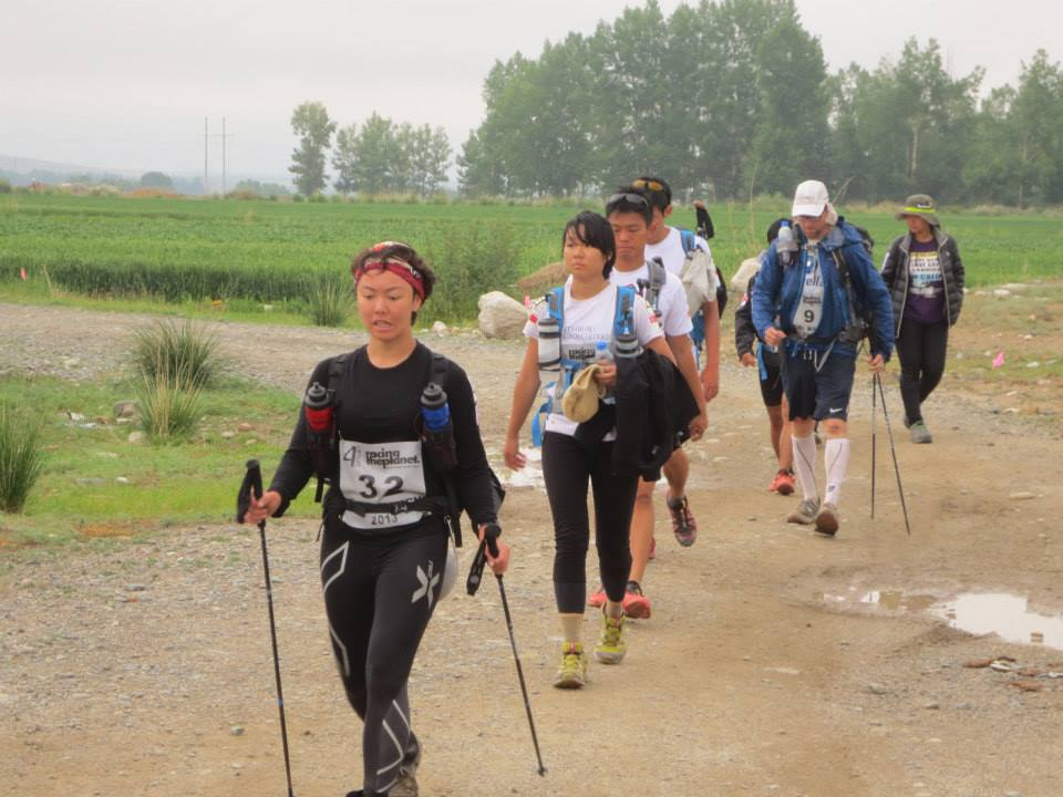 I was so tired! Beginning of Stage 5 of the 2013 Gobi March