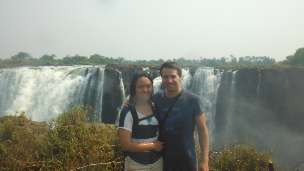 Lis and Rich at Victoria Falls