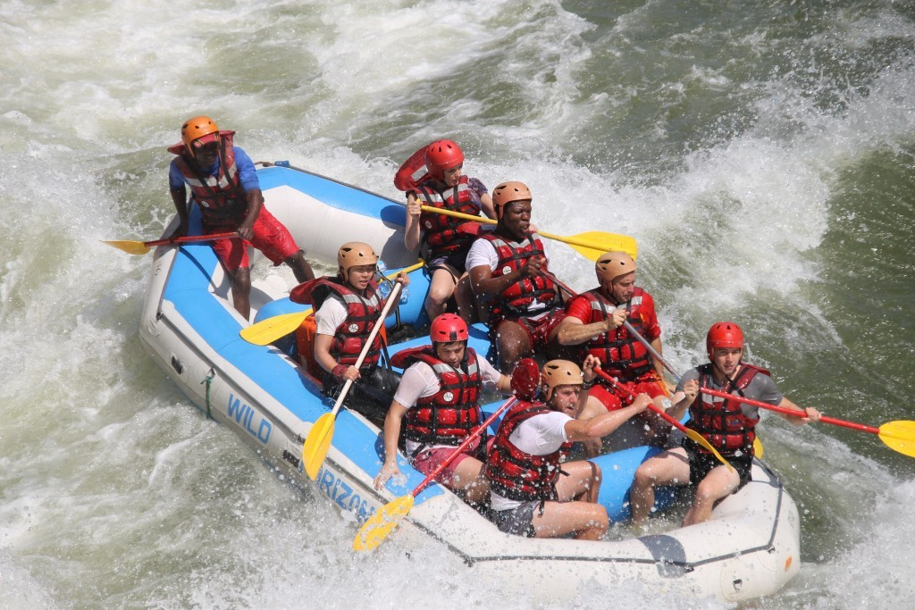 Fighting our way through rapids